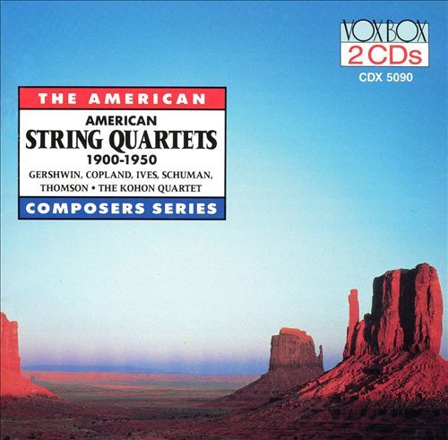 American String Quartets 1900-1950 cover