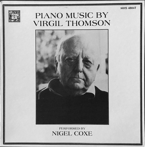 Piano Music By Virgil Thomson cover